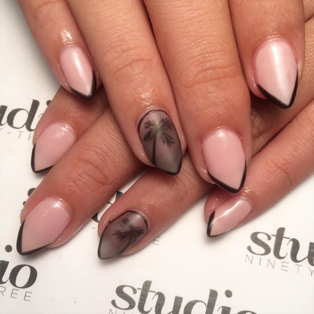 gelish beach nails