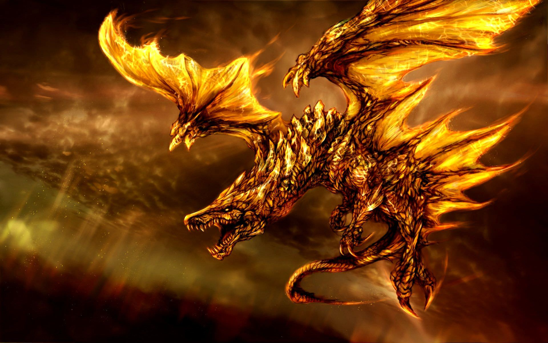 Elegant Wallpaper Of Dragon