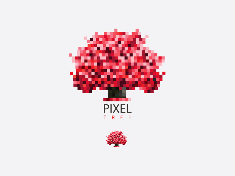 Pixel Tree Logo Design