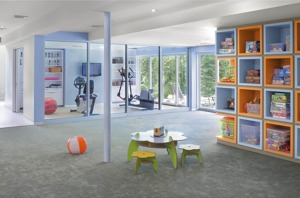 Blue Children Playroom Ideas