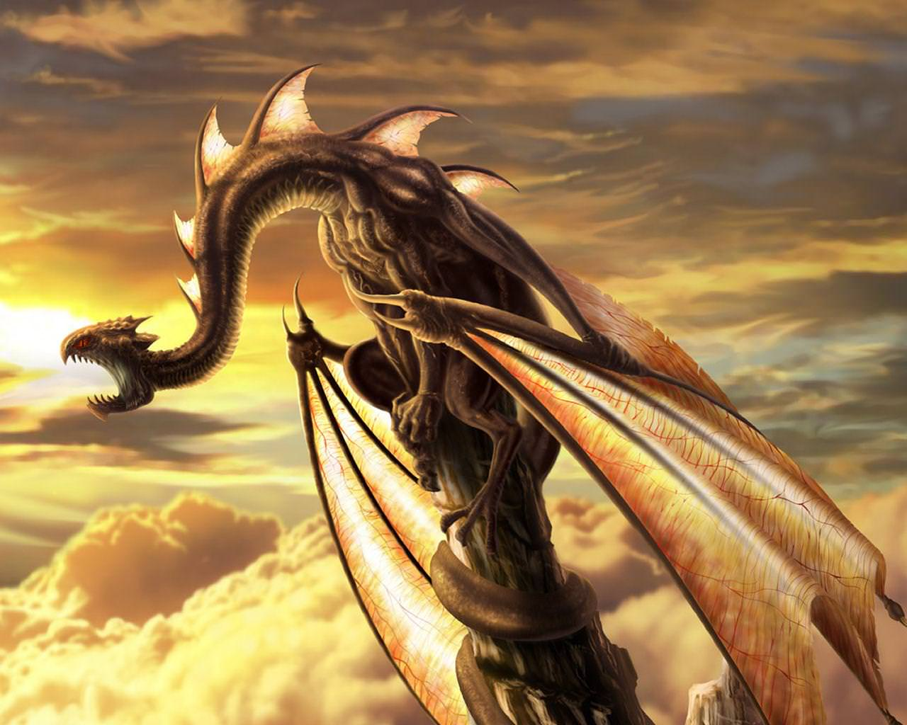 Free Desktop Dragon Wallpaper