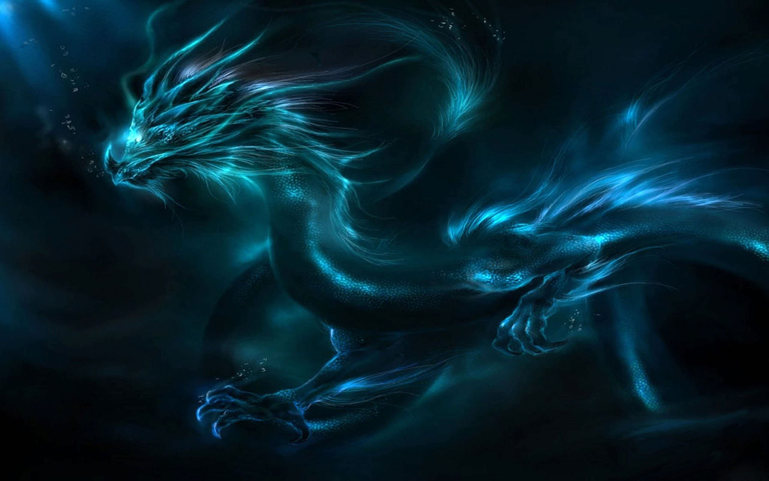 Fabulous Dragon 3D Wallpaper Design
