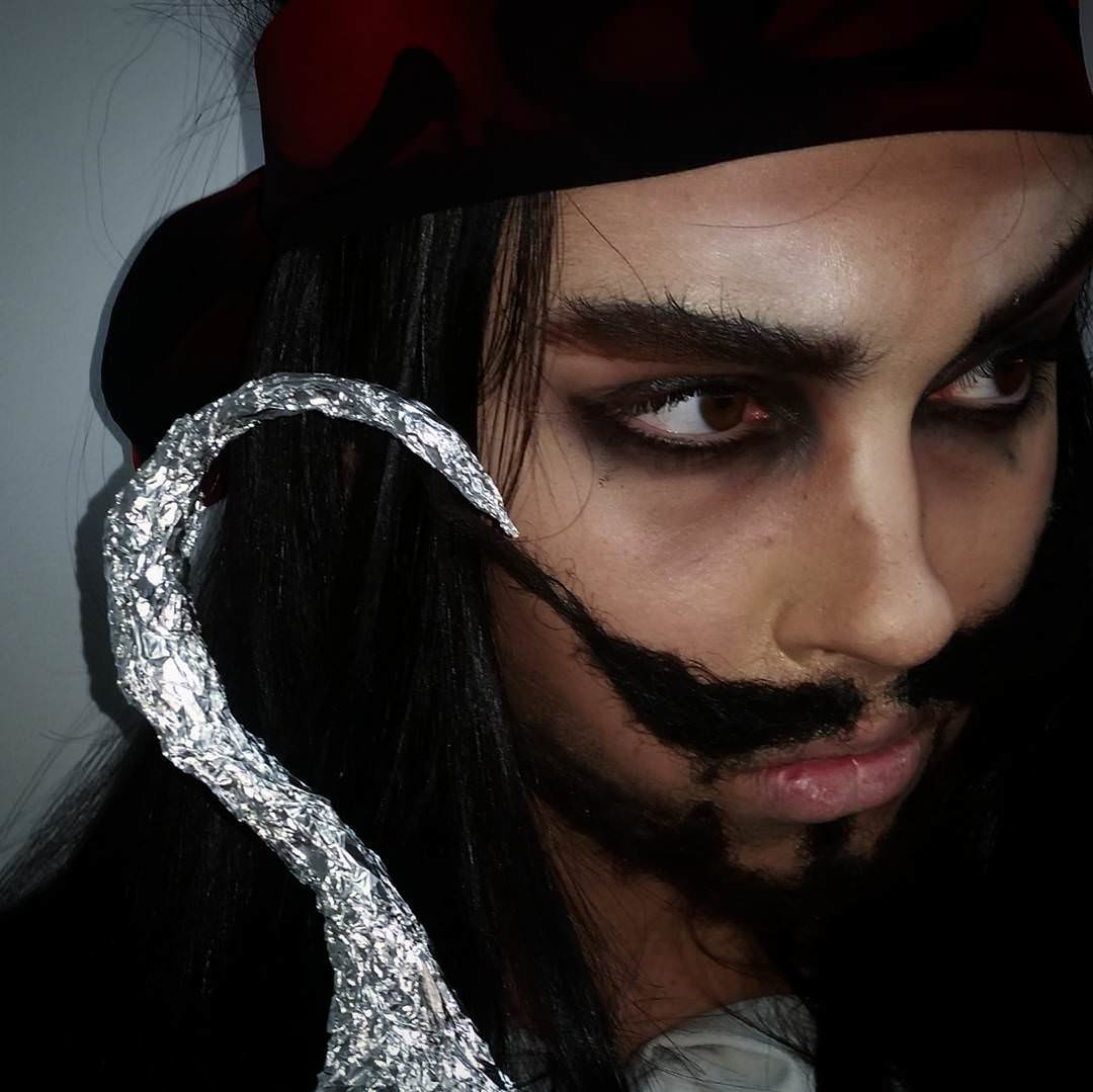 Modern Pirate Makeup for Men