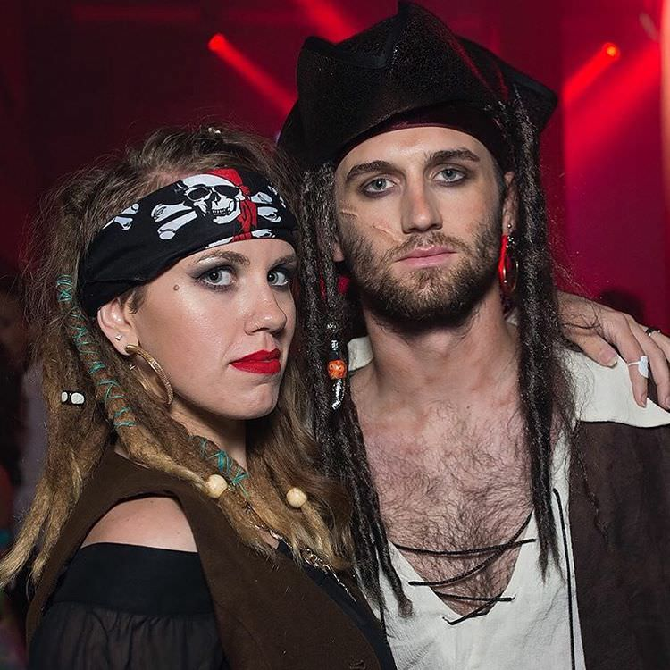 Couple Pirate Makeup