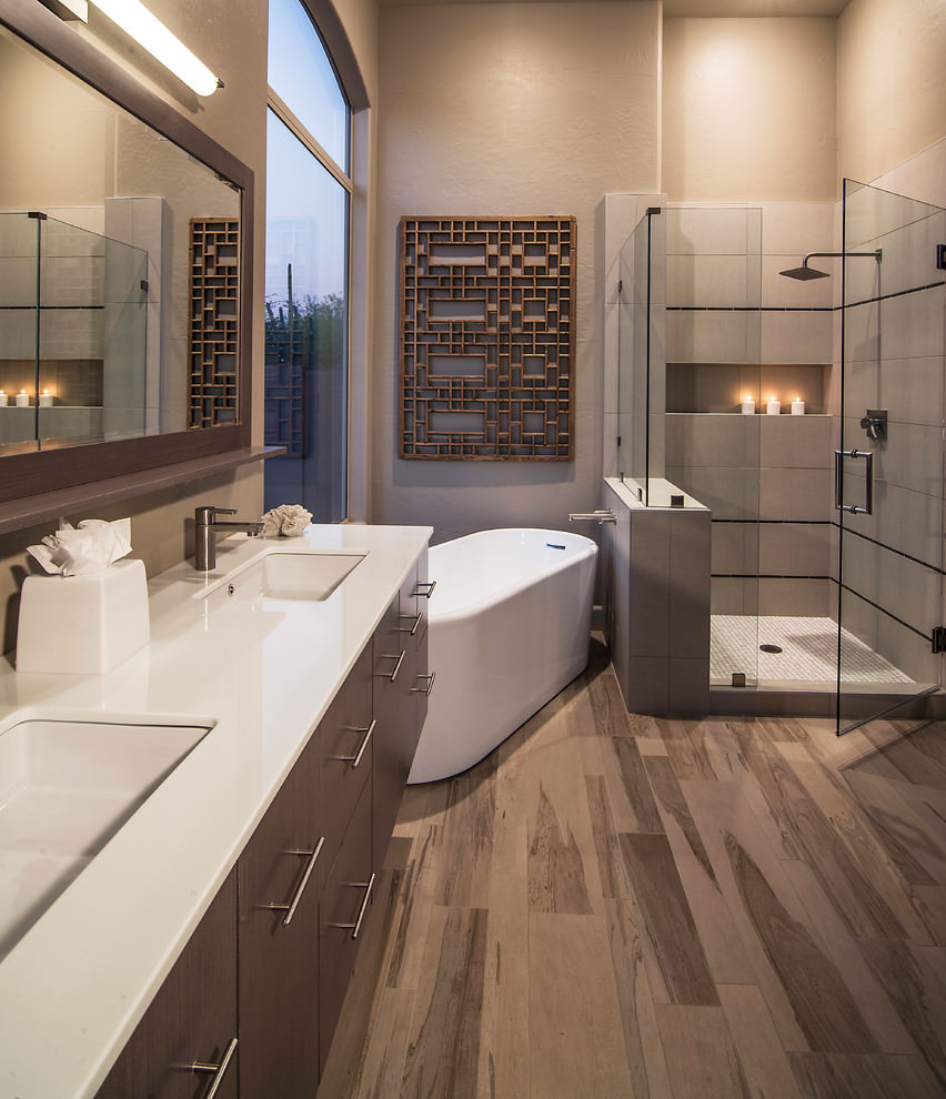 Polished Floor Bathroom Design