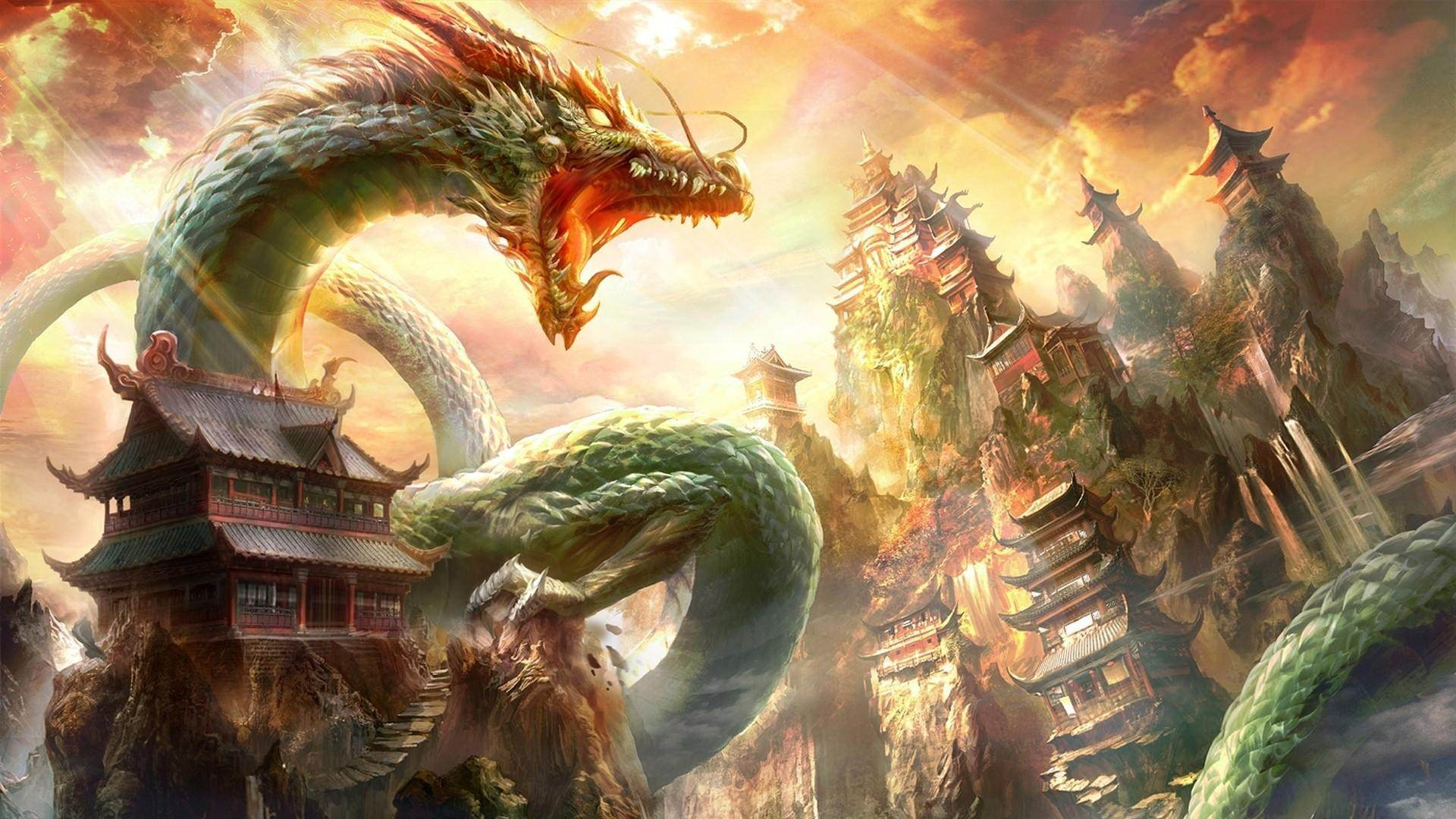 Amazing Creative Wallpaper of Dragon
