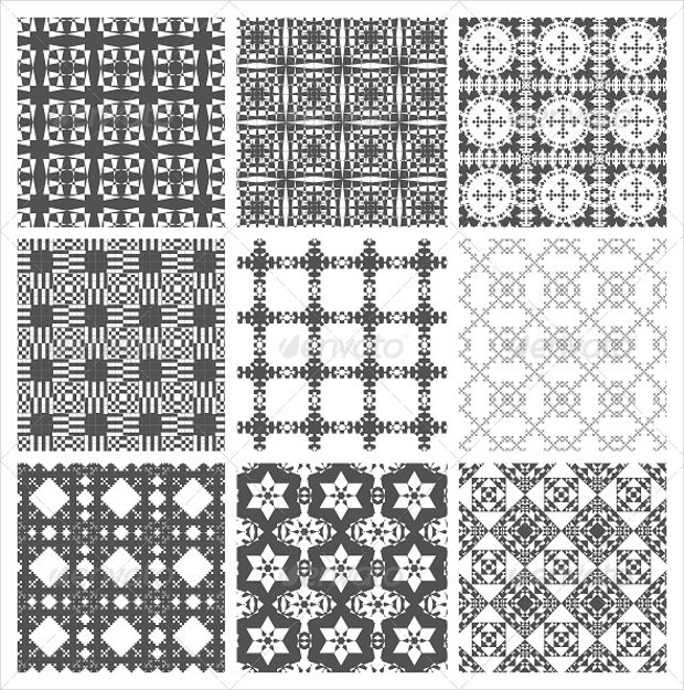 black-and-white-geometric-square-patterns