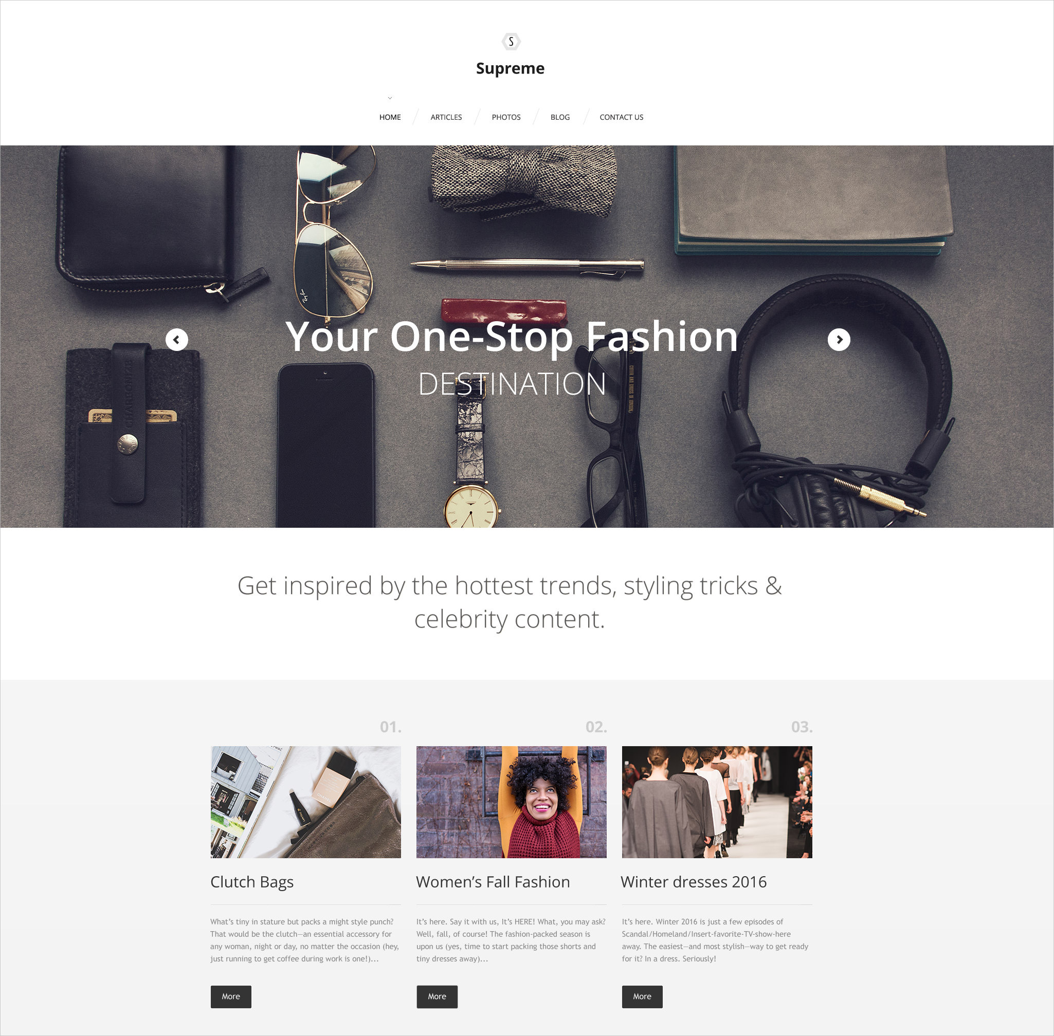 Supreme WordPress Template