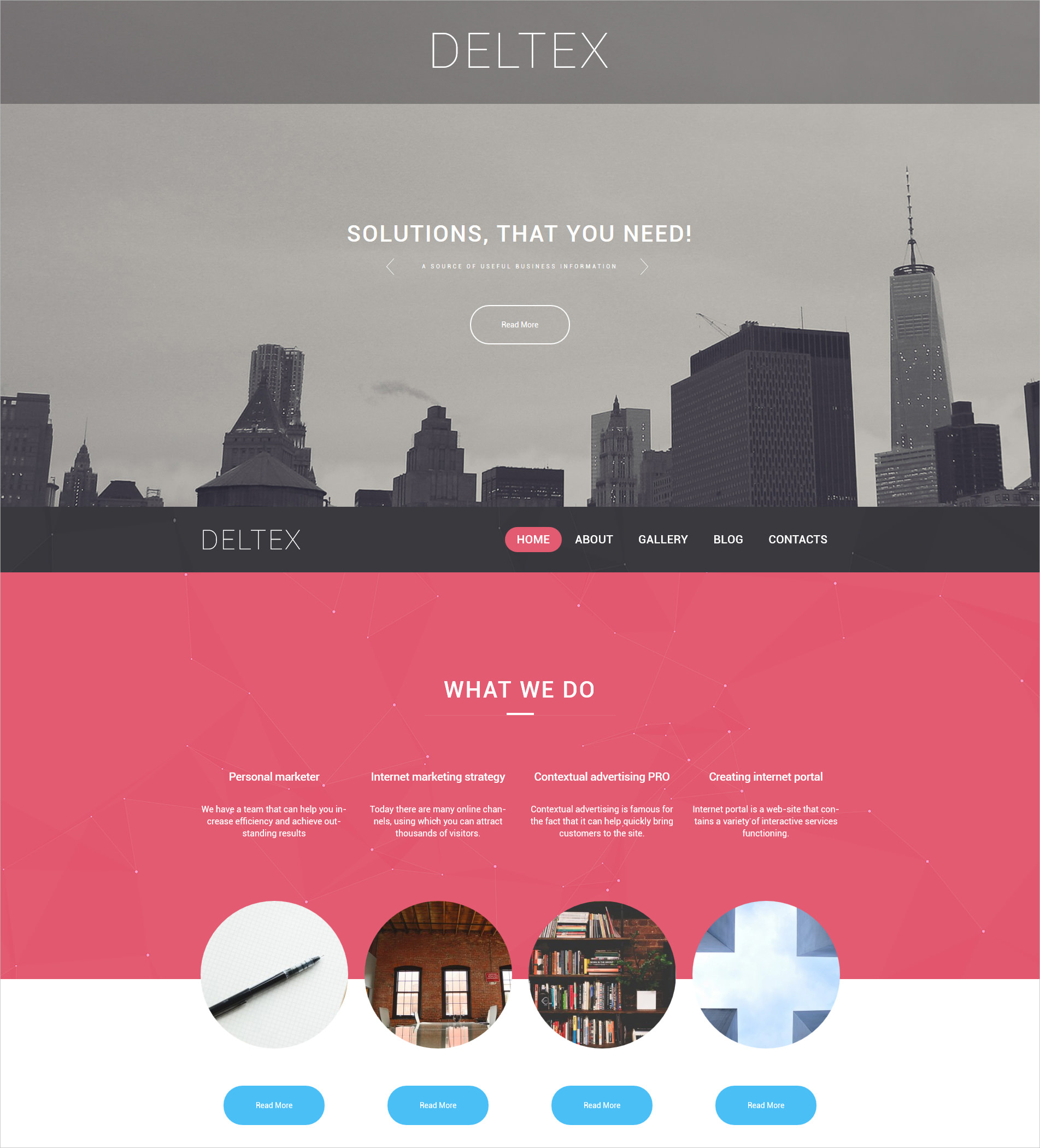 Business & Services Bootstrap WP Theme