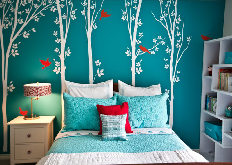 Floral Wall Decor Girls Bedroom