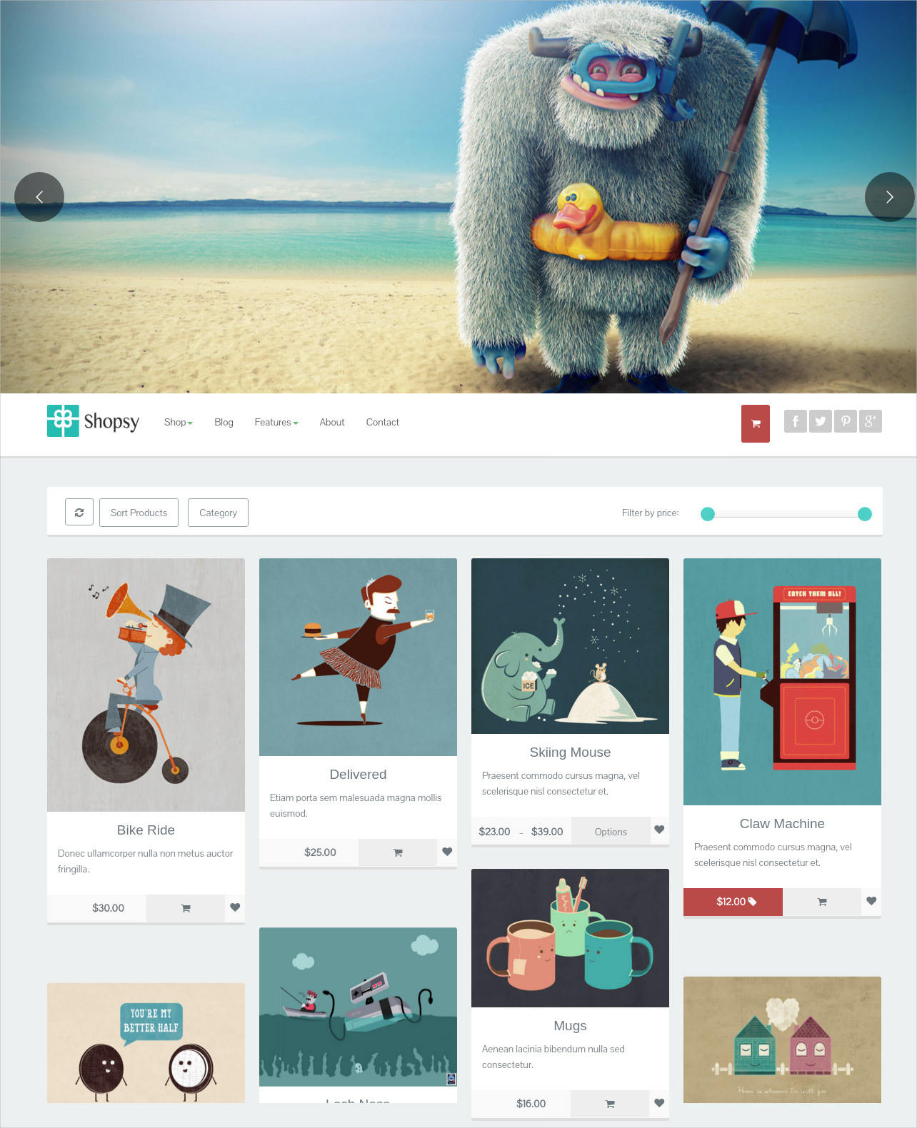Shopsy Responsive eCommerce Theme