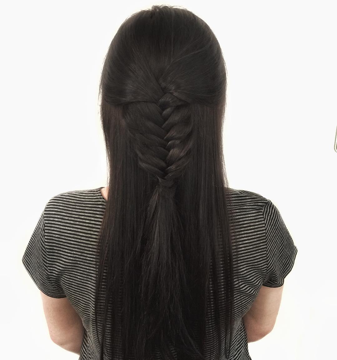 Waterfall Braided Hair.