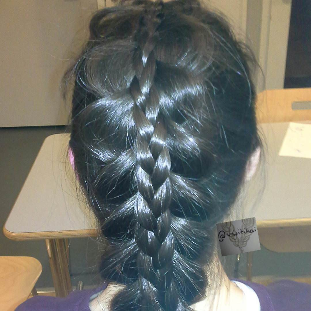 Stacked Braided Hair