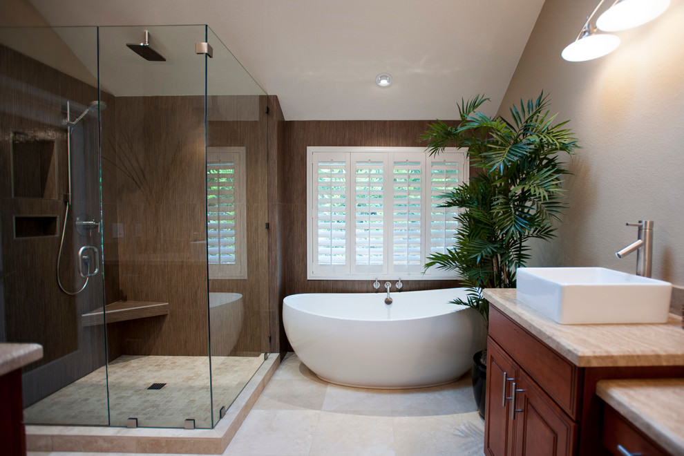 22 nature bathroom designs decorating ideas design for Bathroom decorating ideas images