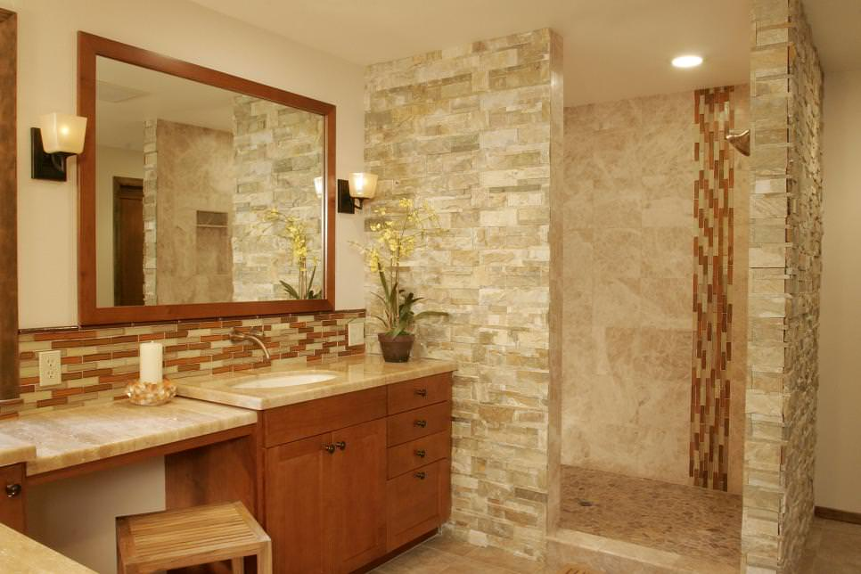 22 nature bathroom designs decorating ideas design for Granite and tile bathroom ideas
