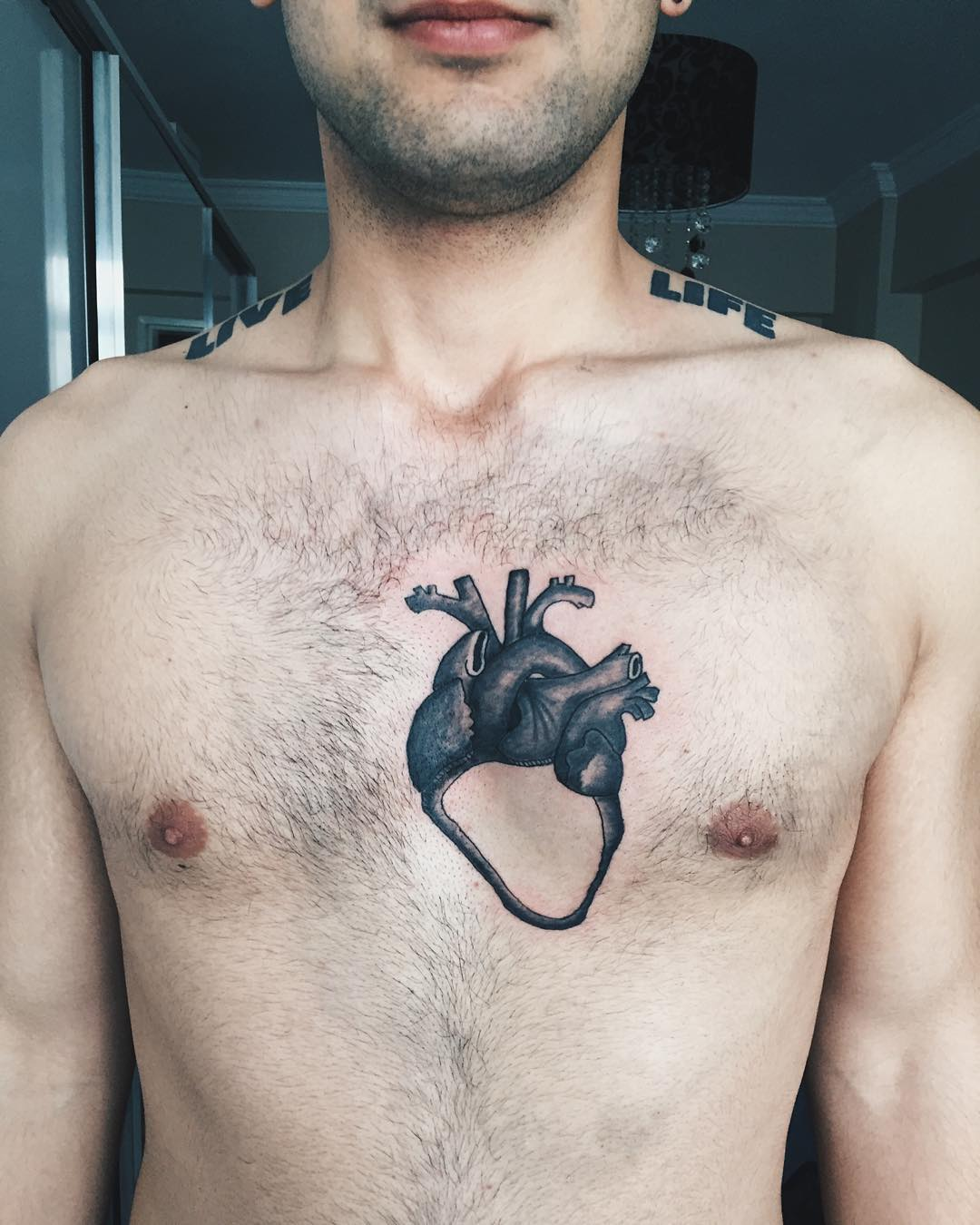 Heart Tattoo Design For Men