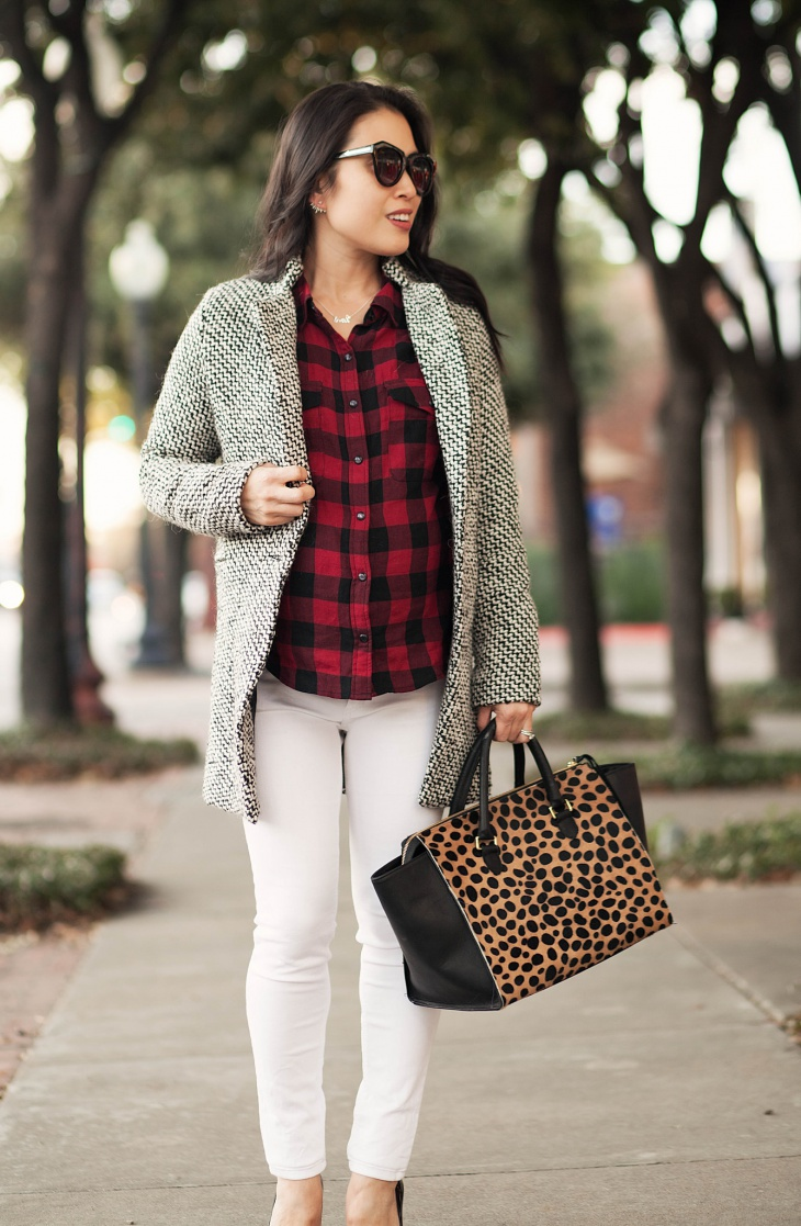 outfits cute winter outfit fall looks check styles street dresses leopard designs buffalo simple dress clothes casual fashionable shirt coat