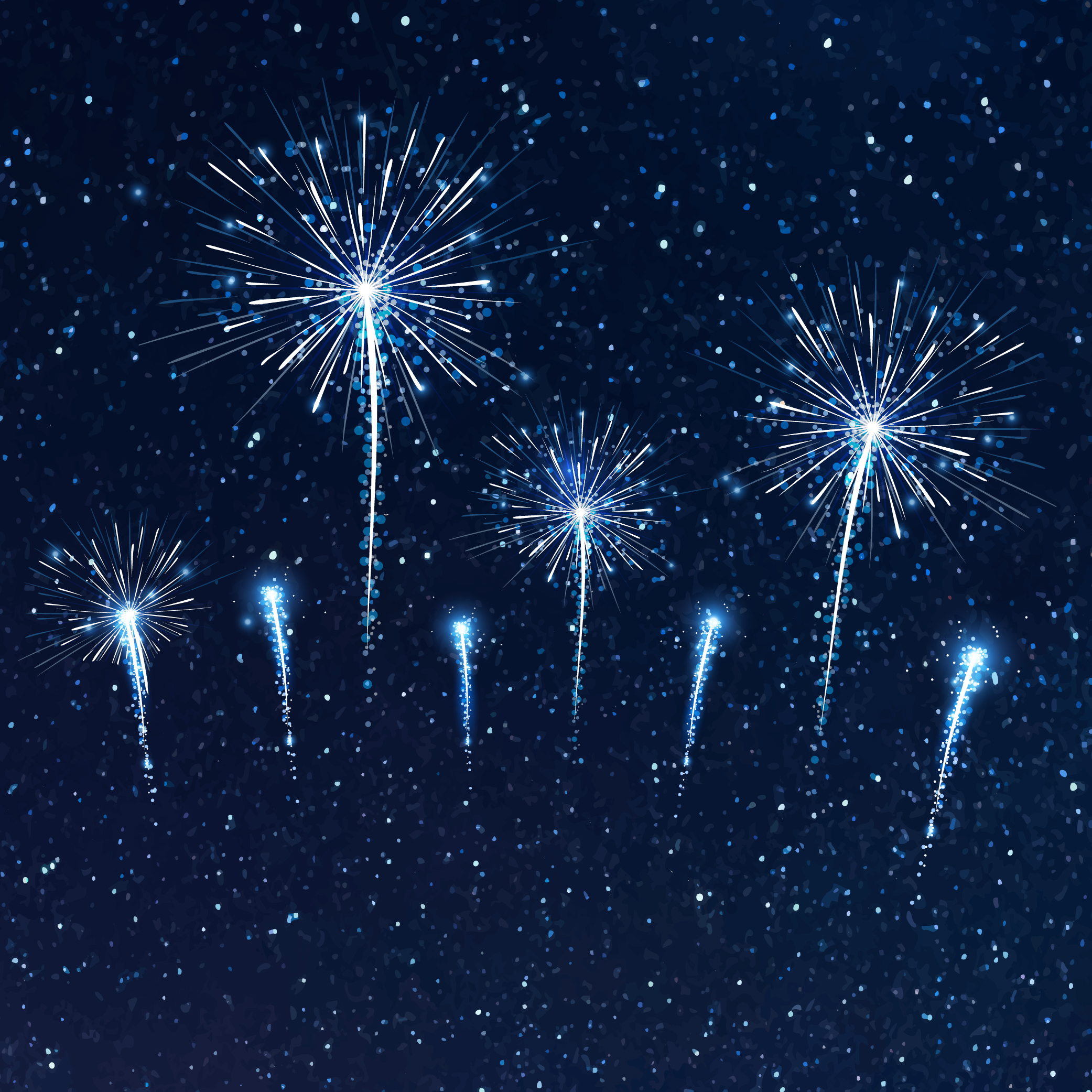 starry sky fireworks image