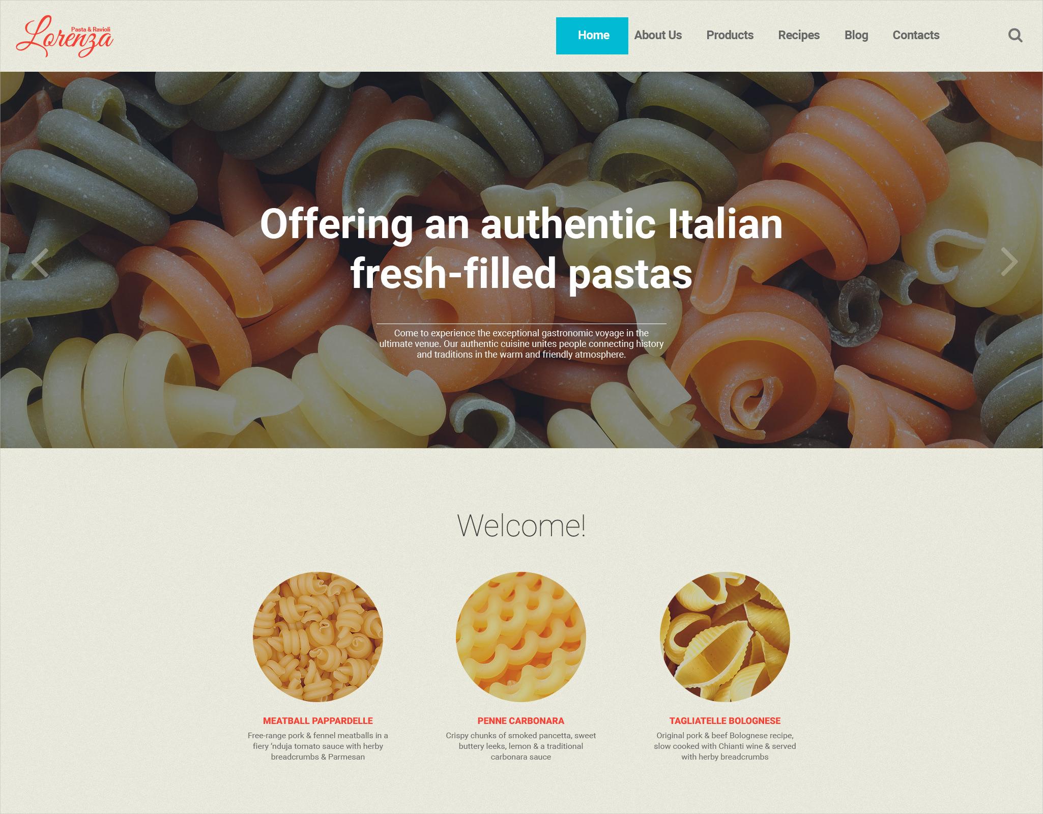 Italian Restaurant Responsive WP Theme