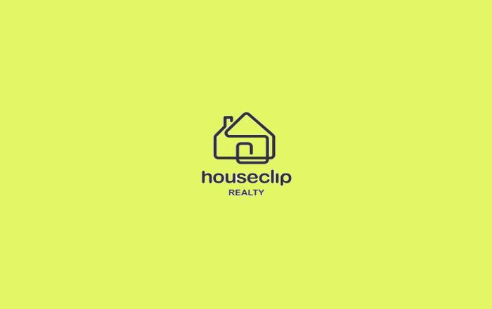 House Clip Logo Design
