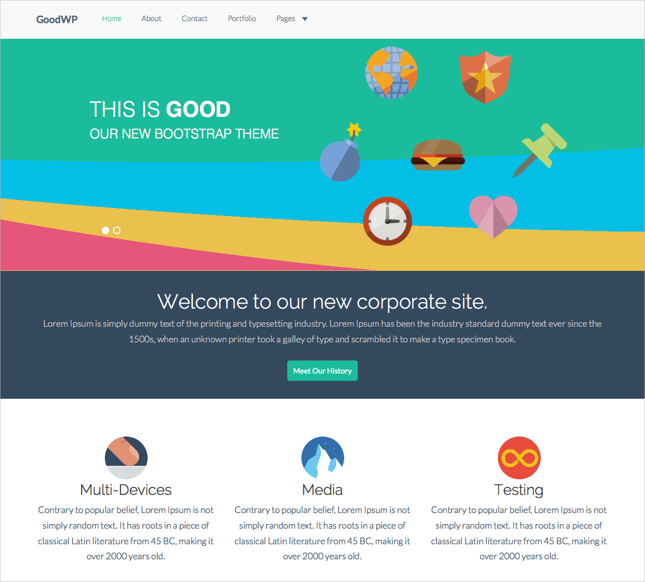 Stylish Twitter Bootstrap Theme