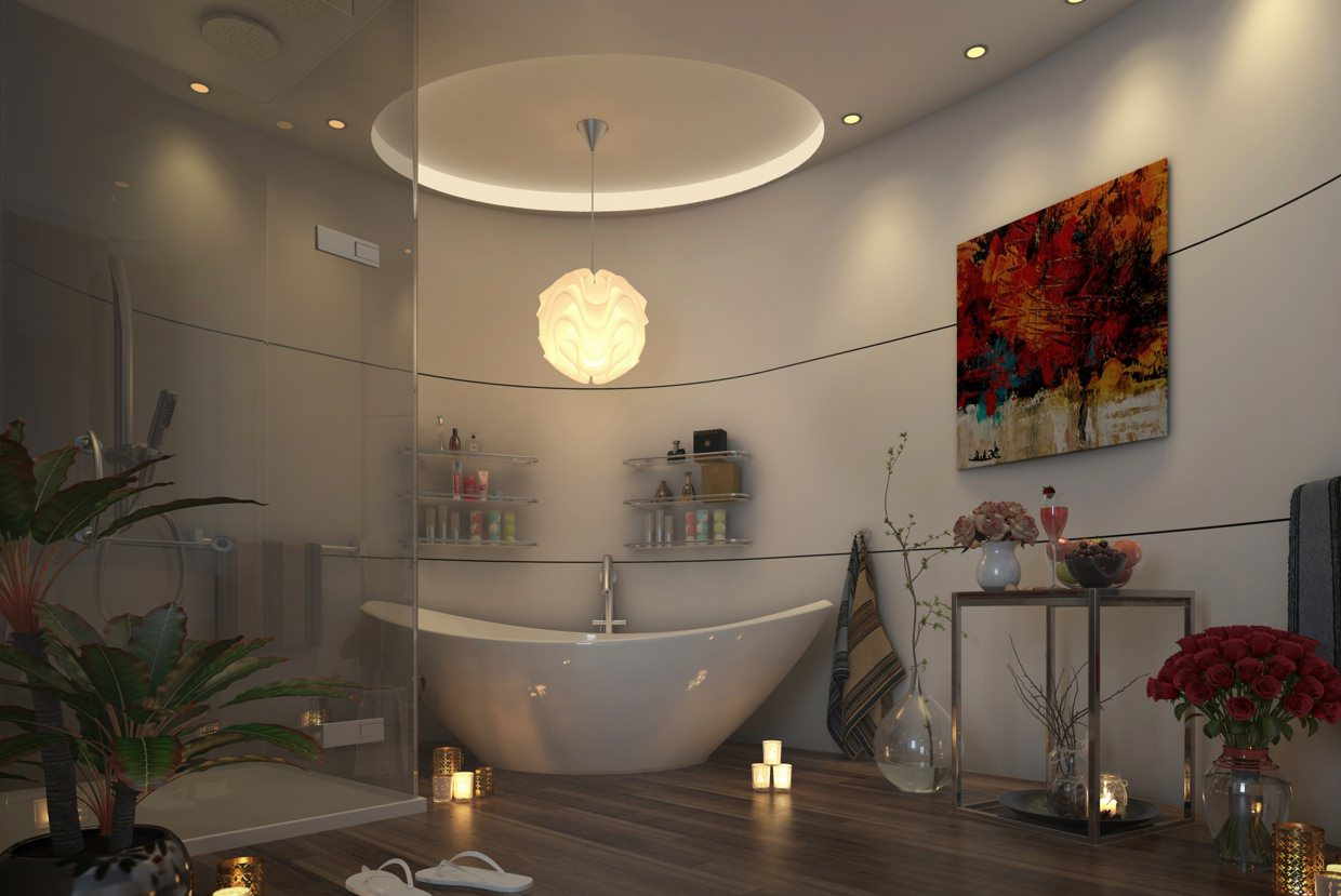22 nature bathroom designs decorating ideas design for Bathroom decor lights