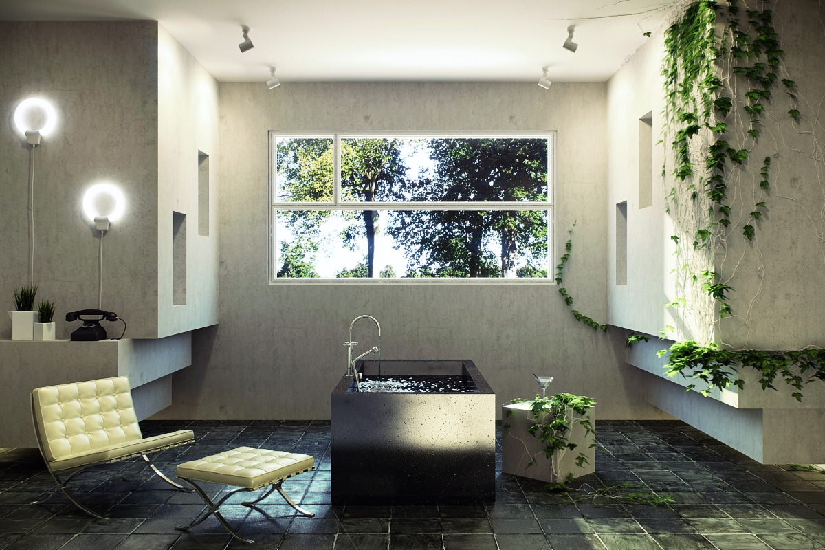 22 Nature Bathroom Designs Decorating Ideas Design Trends Premium PSD