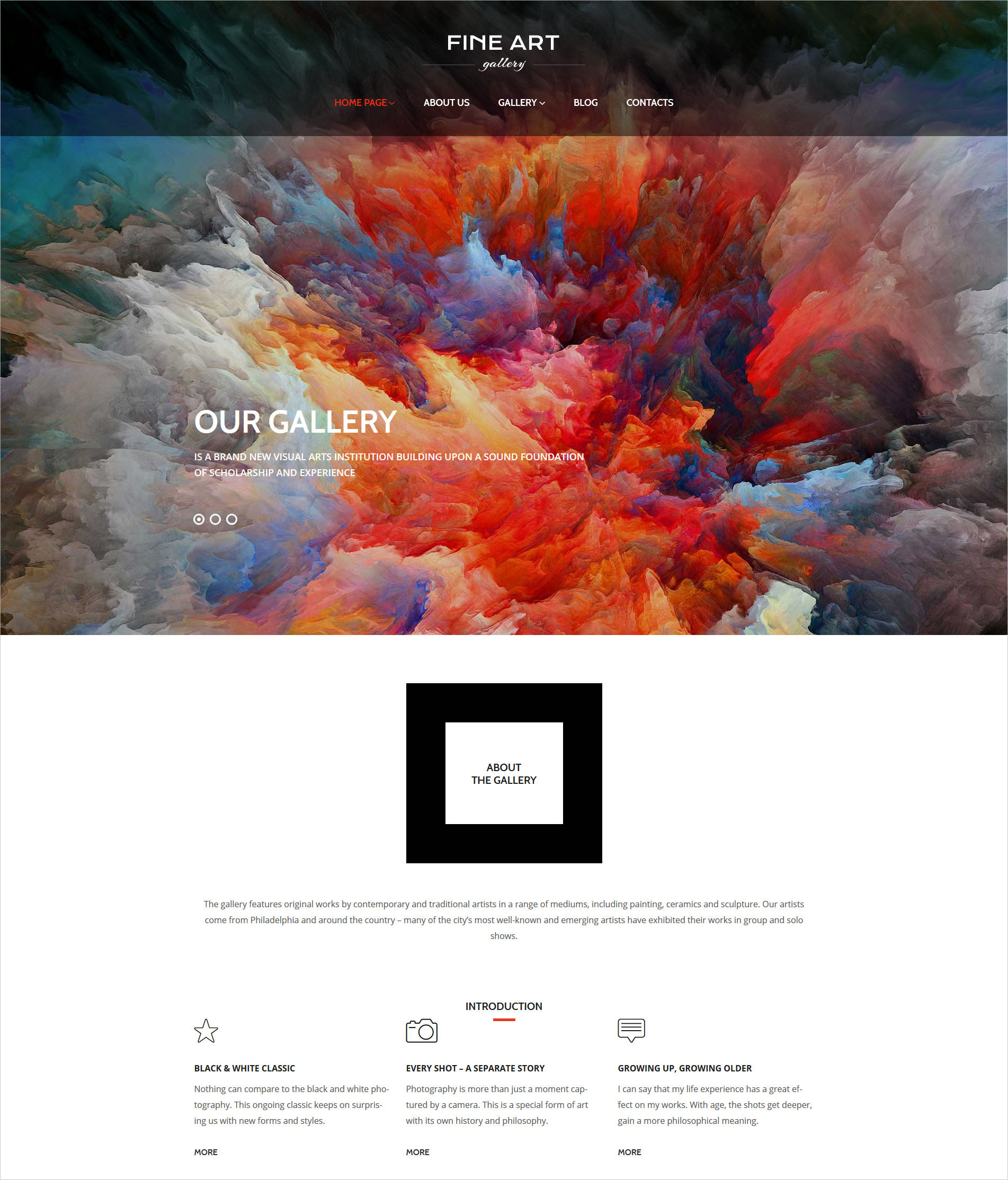 Art Gallery Responsive WP Theme