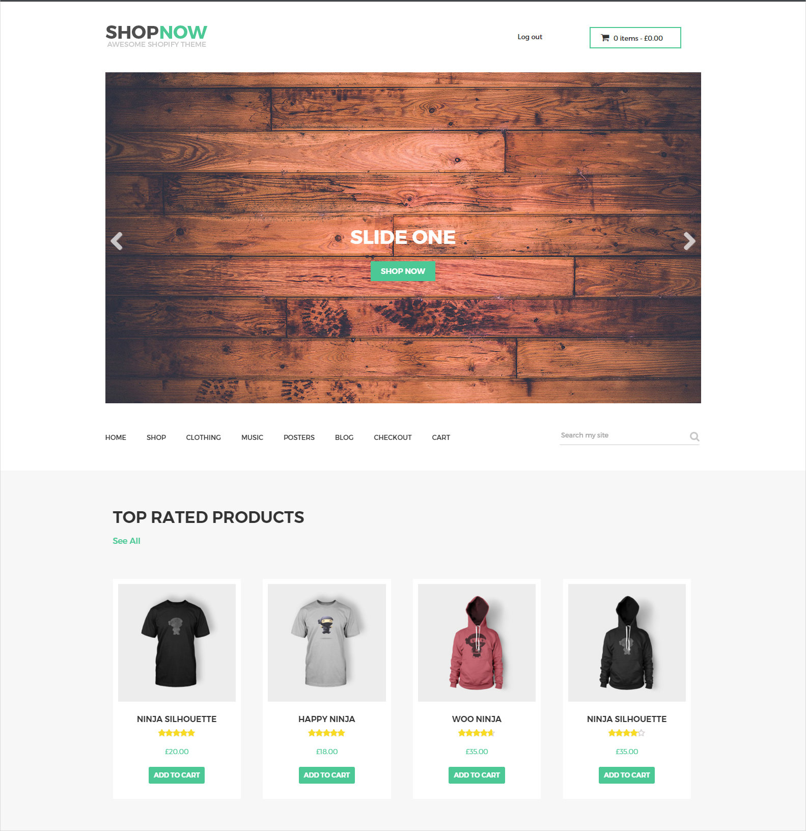 Woocommerce Bootstrap WP Theme