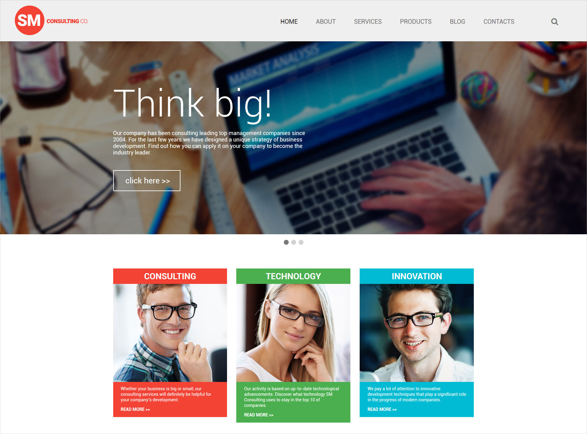 Consulting Co WordPress Template