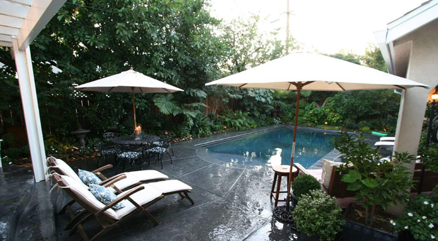 Soothing Small Fiberglass Pool Designs