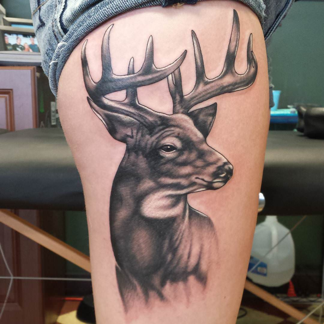 perfect attractive deer tattoo