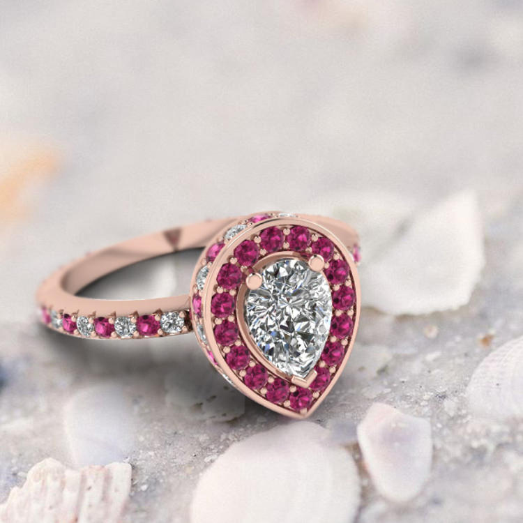 Pink Colored Diamond Ring