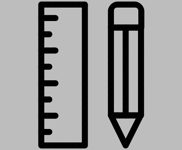 Pencil and Ruler Measurement Icon