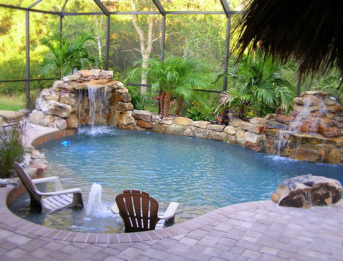 24 small swimming pool designs decorating ideas design for Decor around swimming pool