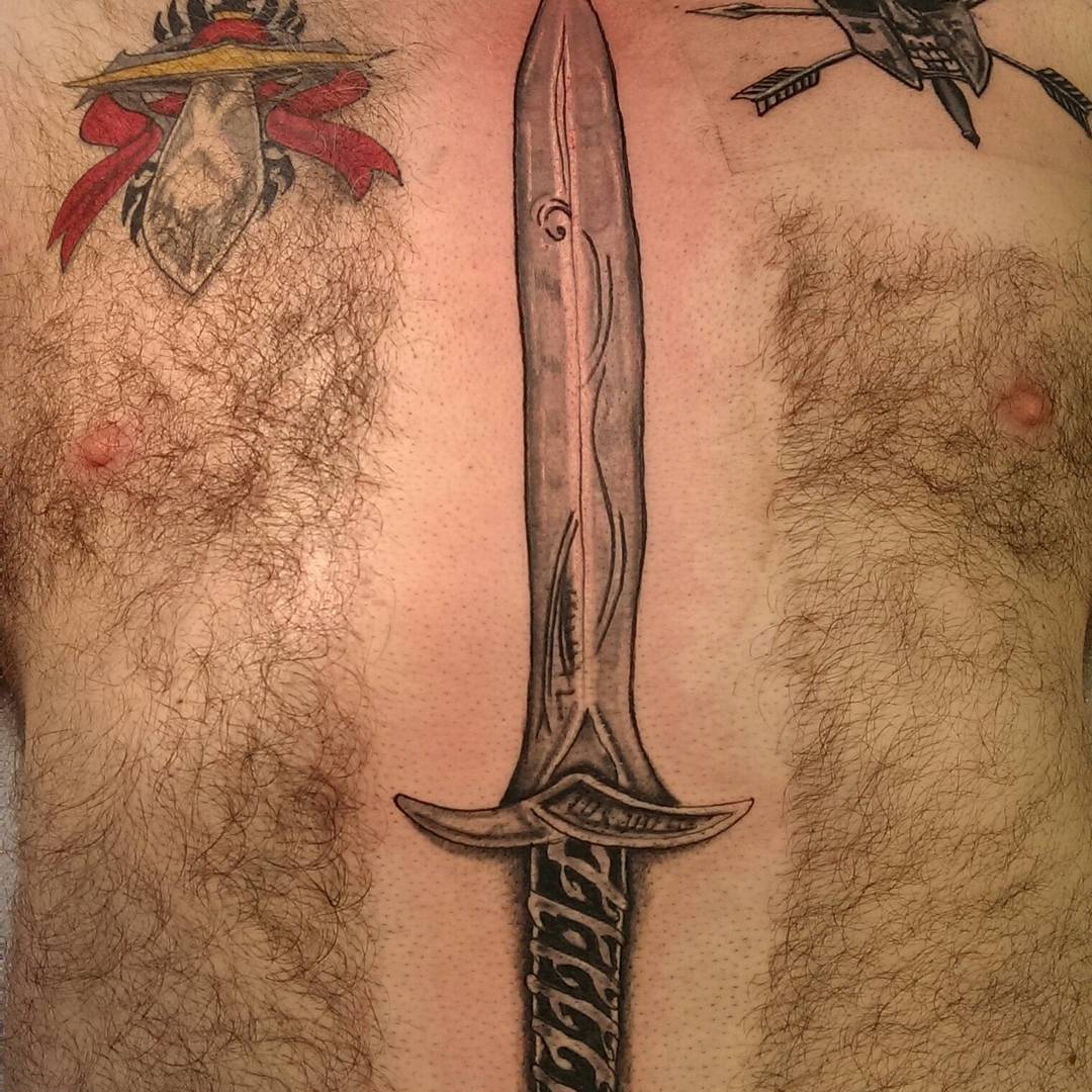 spectacular sword tattoo