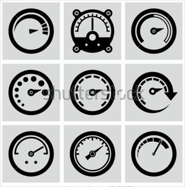 Circular Gauges Icon Set