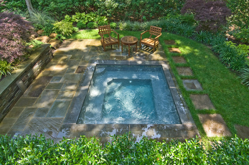 Outdoor Garden Fiberglass Pool Designs