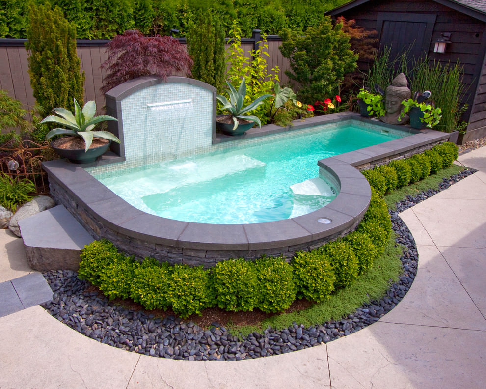 Inground Pool Designs Ideas small kidney shaped inground pool designs for small backyard with outdoor furniture Tiny Inground Pool Designs