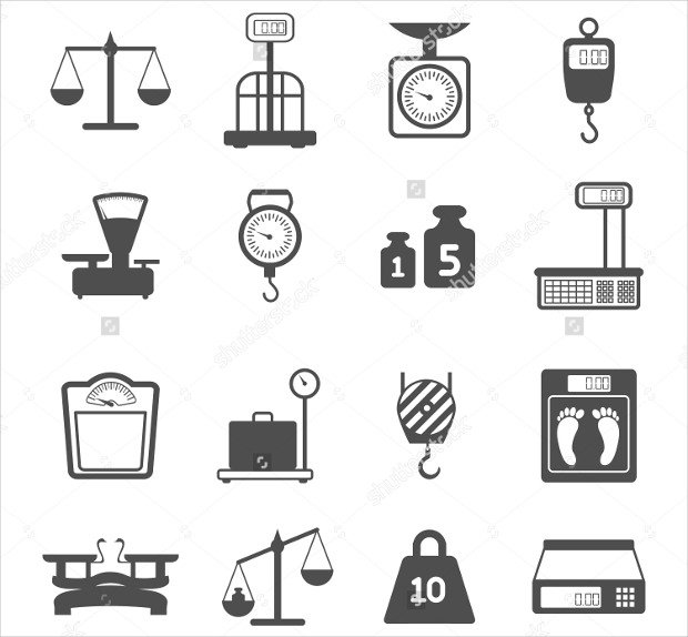 Pharmacy Shopping Measurement Icons