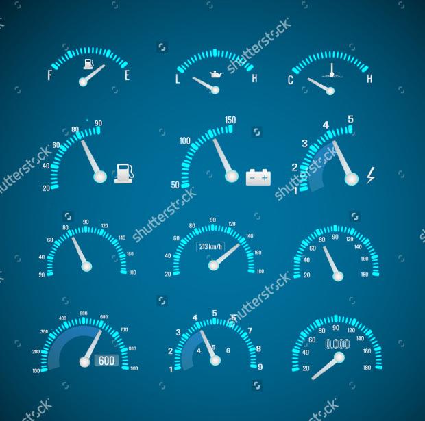 Speedometer Interface Icon