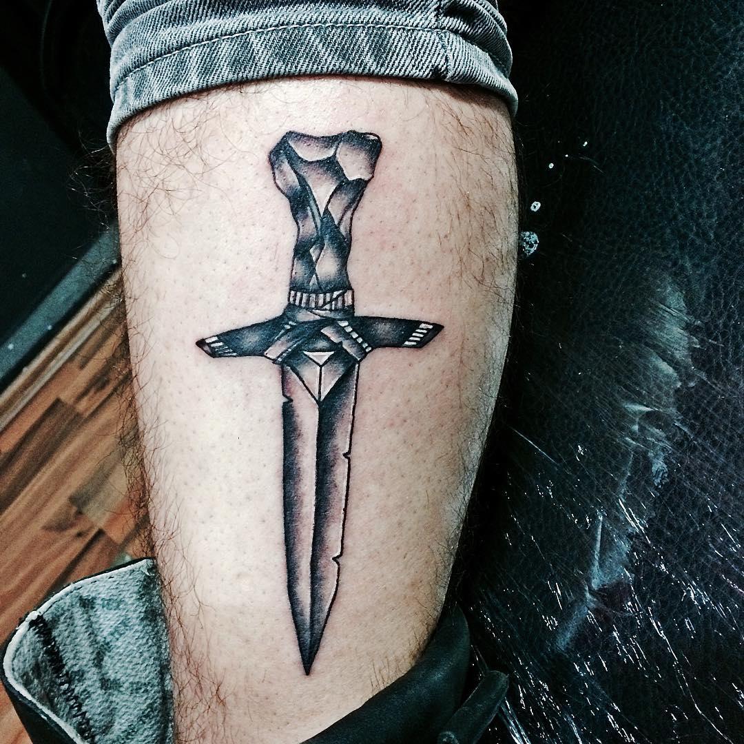 creative sword tattoo