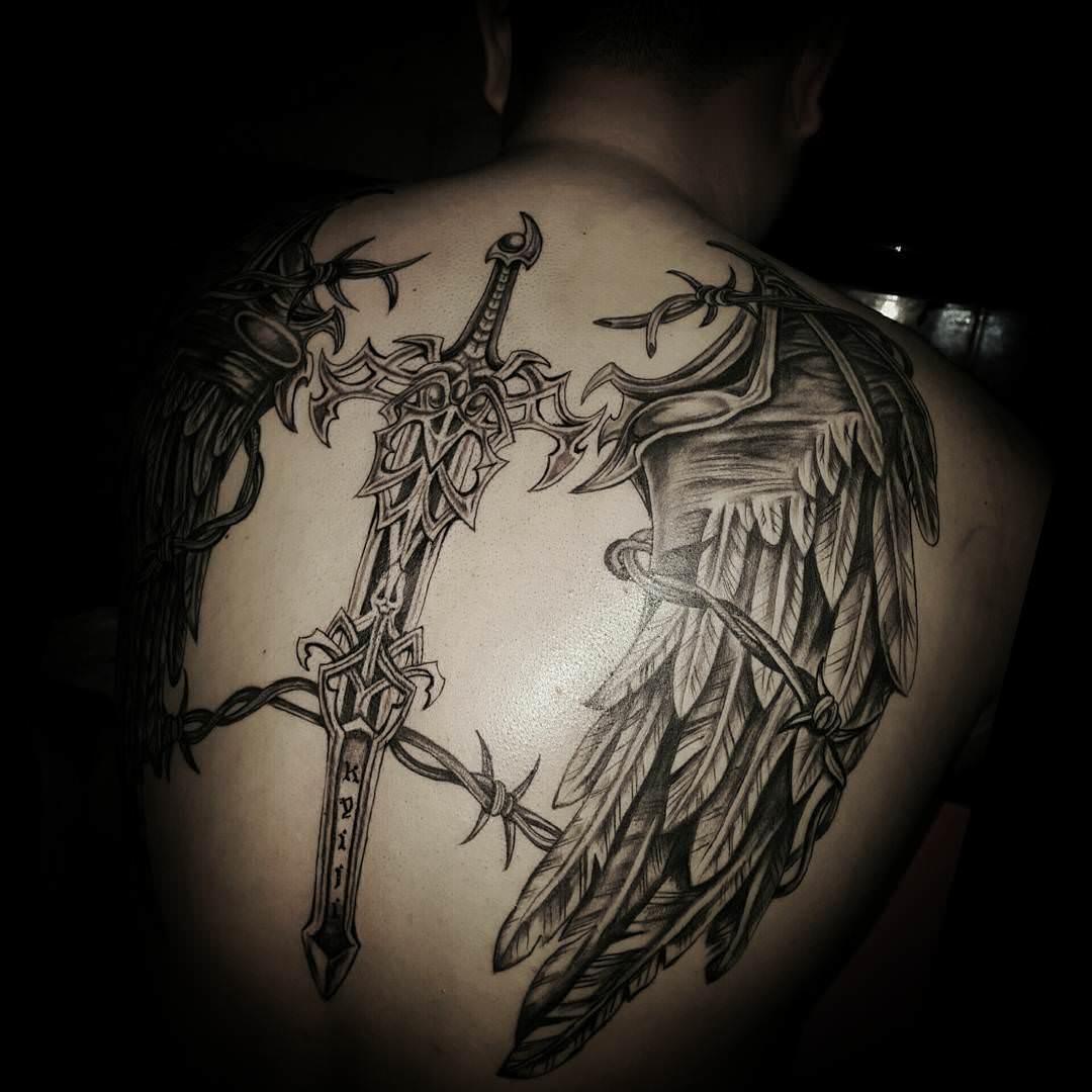 sword tattoo design for men