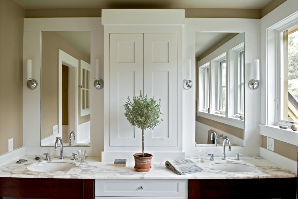 elegant bathroom double vantity ideas