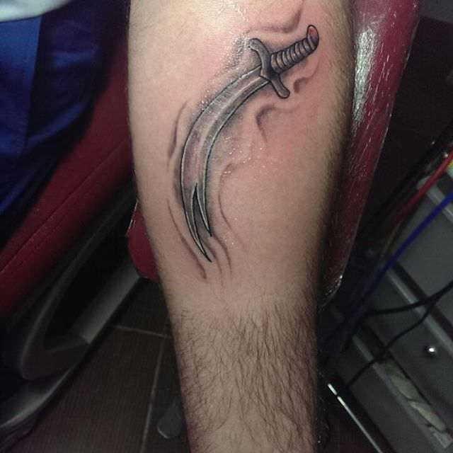 fantastic sword tattoo