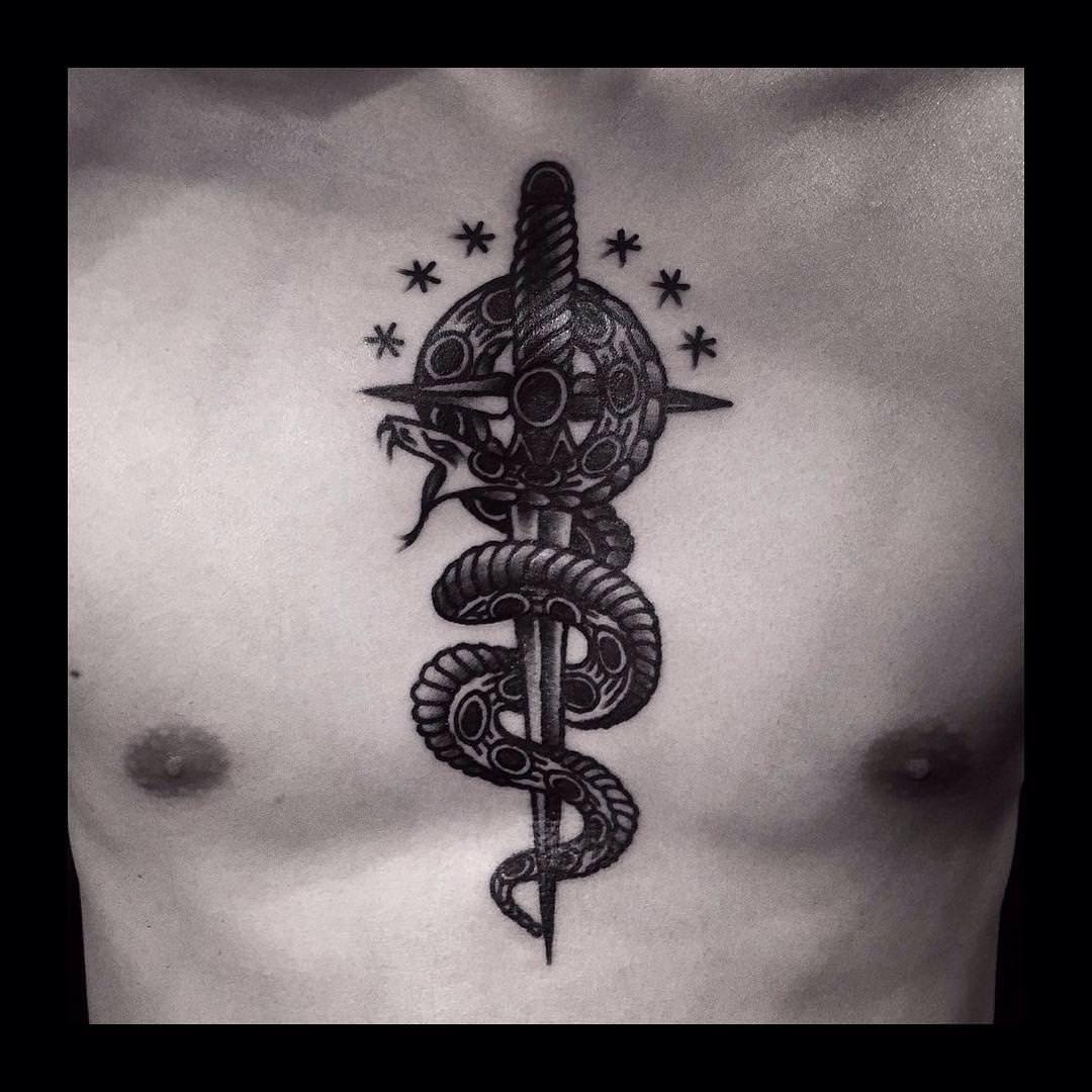 wondrous sword tattoo design