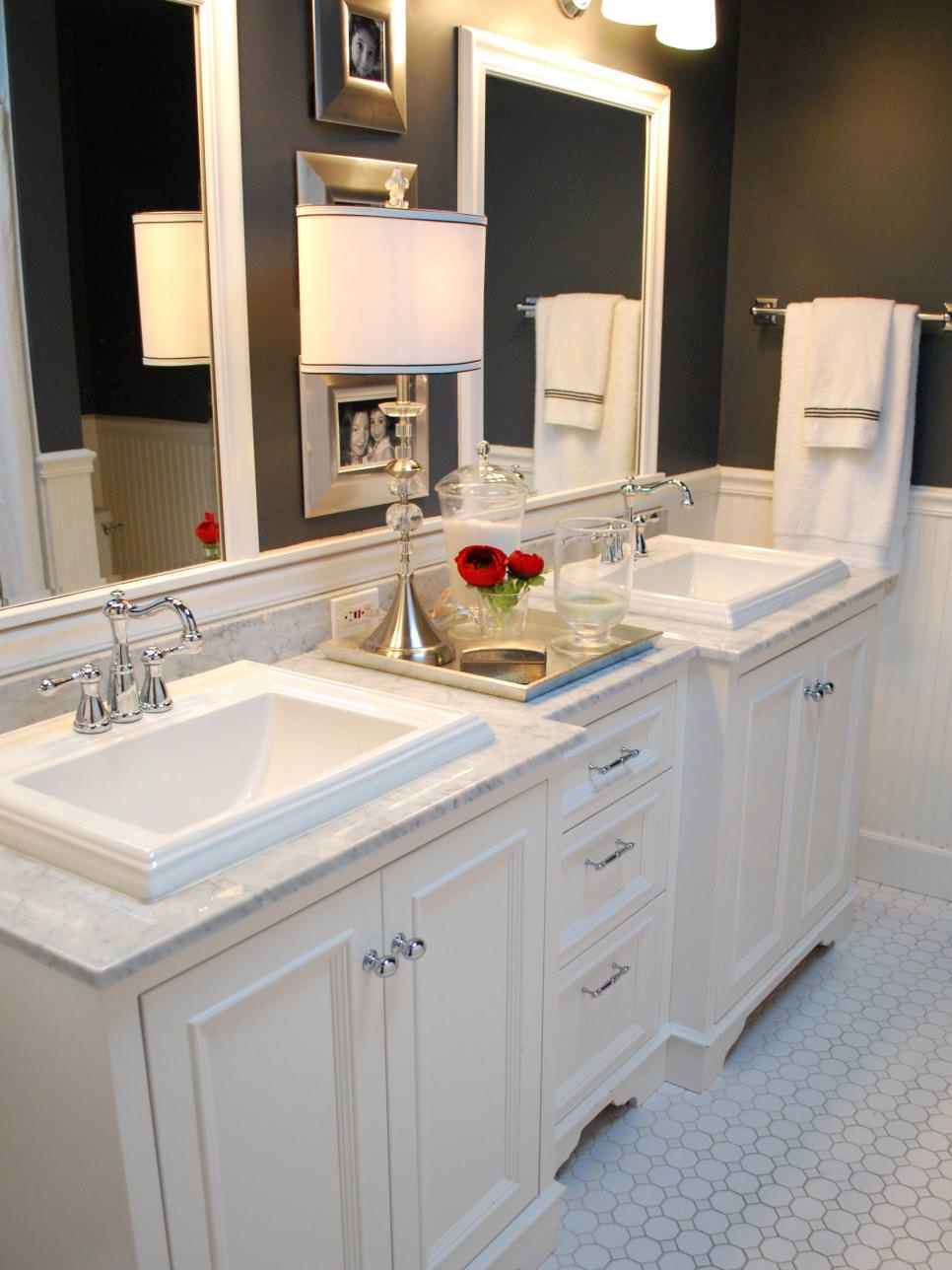 stylish double vanity bathroom