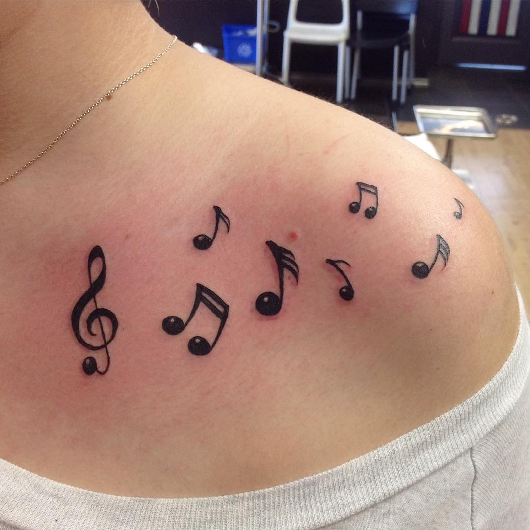 24+ Music Note Tattoo Designs, Ideas