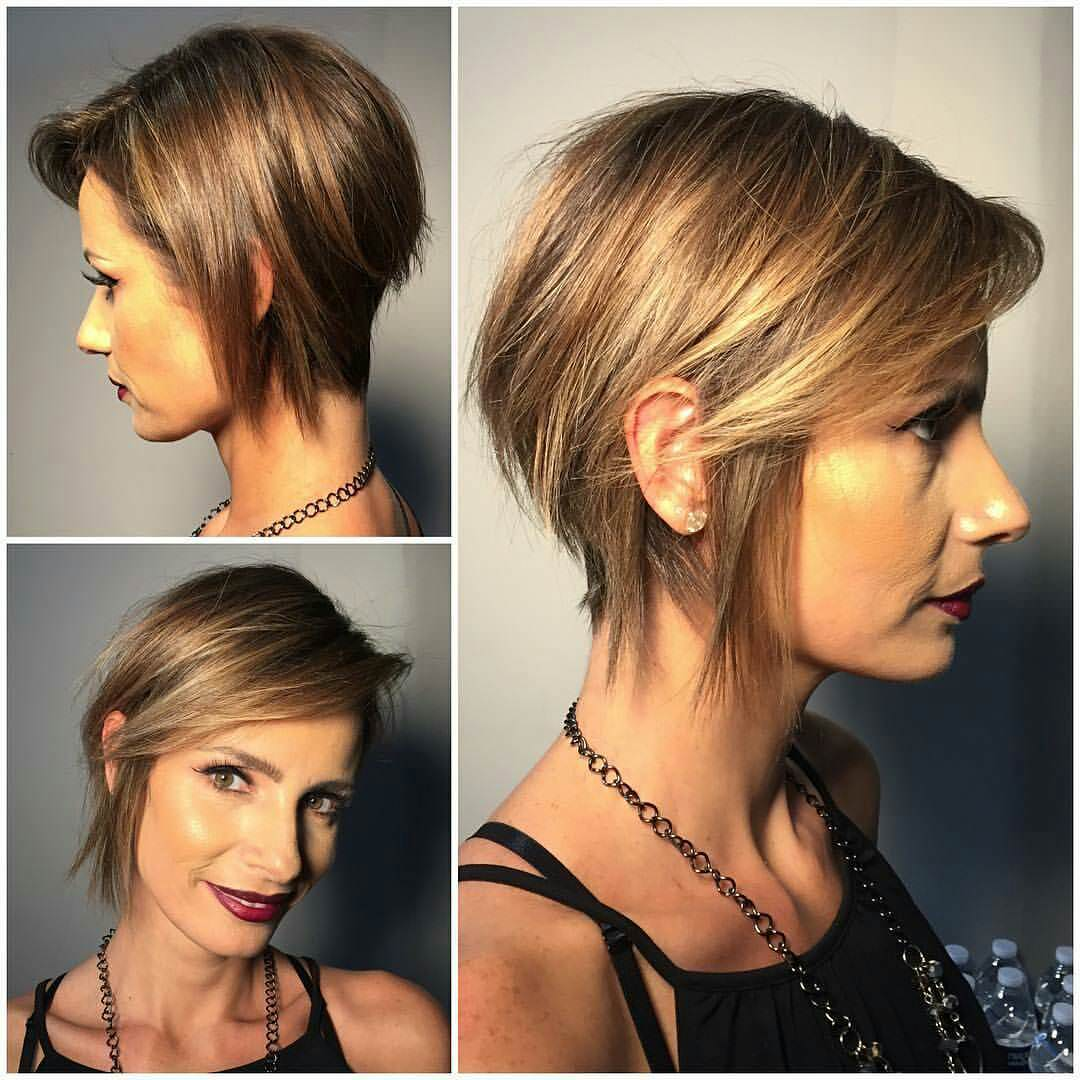Side Part Pixie Hair