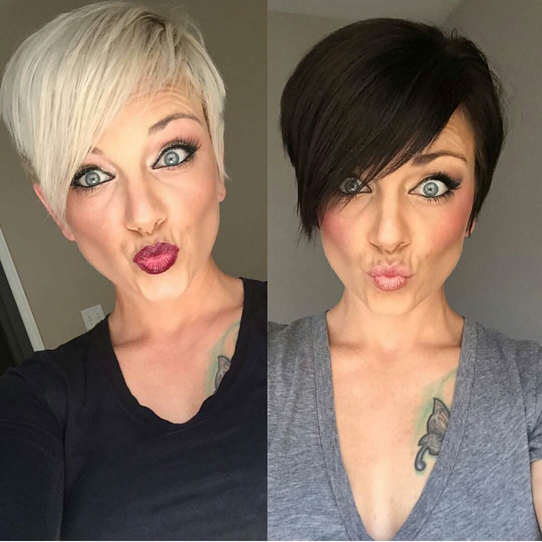 colored and non colored hairstyle